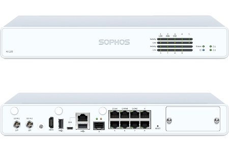 Sophos XG 125 Front and Back View