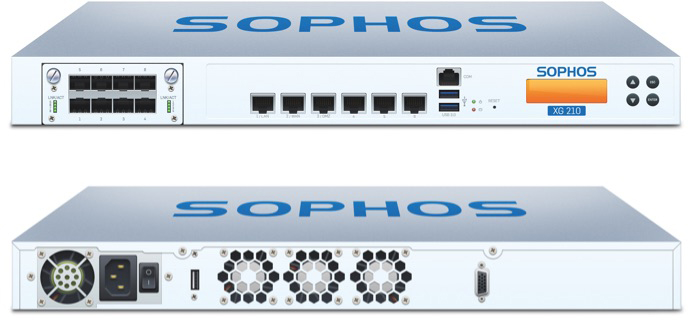 Sophos XG 210 Front and Back View