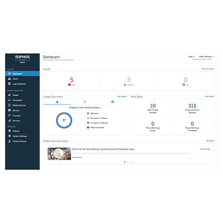 Sophos Central Endpoint Protection - 10-24 Users, 1 Year (previously Sophos Cloud Endpoint)